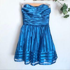 Betsey Johnson Burnout Stripe Organza Dress